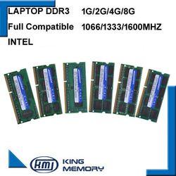 Kembona Gratis Shipping1.5V 1.35 V 1G 2G 4G 8 GB DDR3 Ram PC3 8500 1066 MHz PC3 10600 1333 MHz PC3 12800 1600 MHz SODIMM Memori Laptop