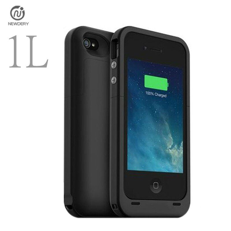 1L CN Ship 2000mAh External power bank pack Mobile Charger Backup Battery protect Case For iphone 4 4s with USB cable