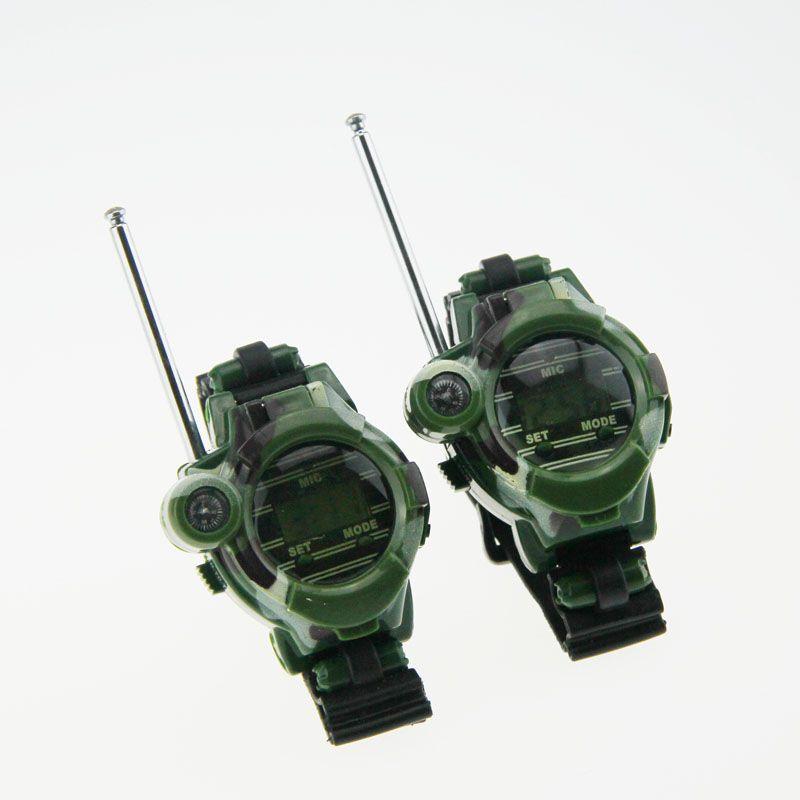 1 par relojes Walkie-talkies 7 en 1 niños reloj Radios interfono exterior juguete bm88