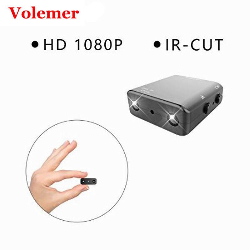 Volemer IR-CUT Mini Camera 1080P HD Small Watching Home XD Micro Cam Night Vision Motion Detection DVR Mini Camcorder pk SQ11