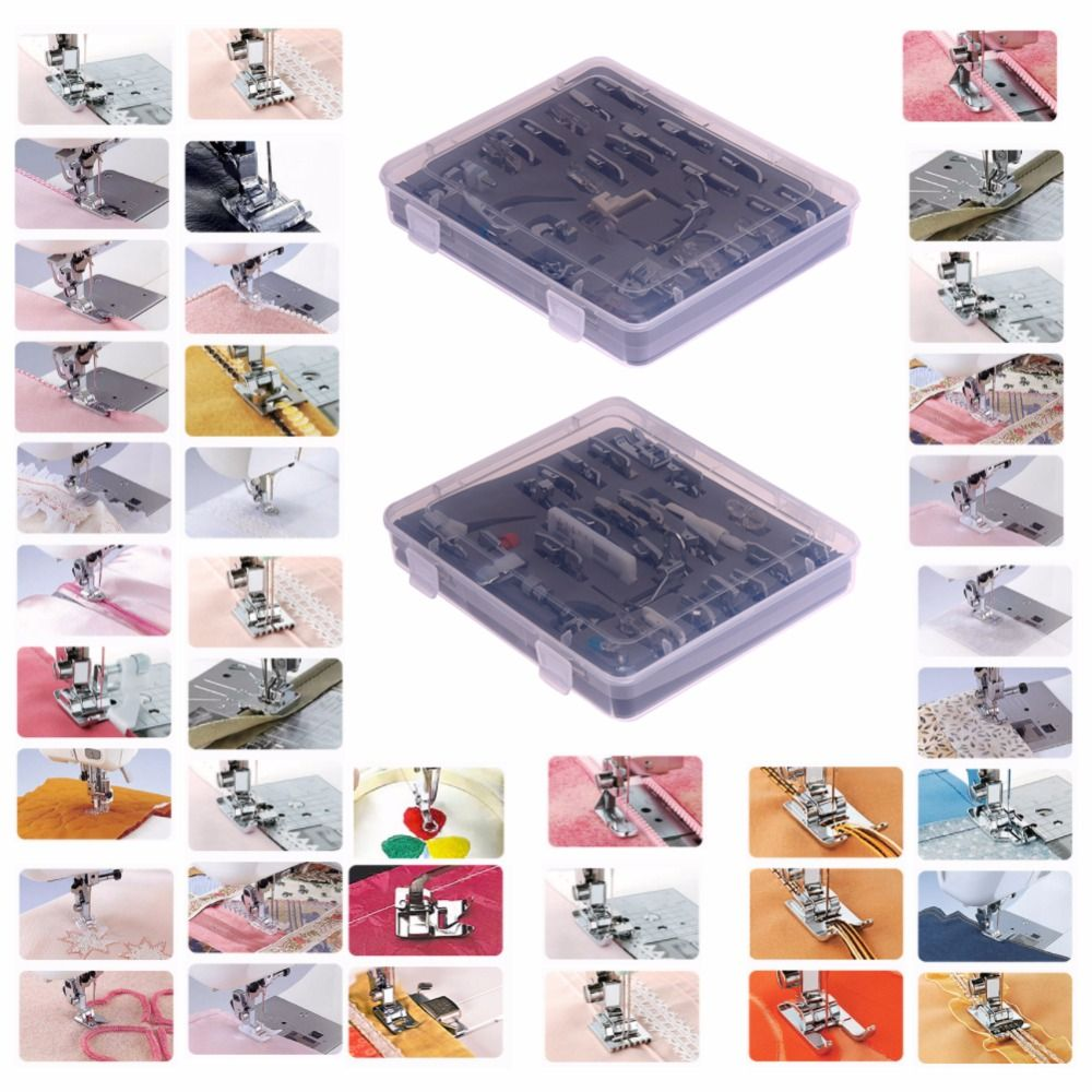 52pcs/set Multifunctional Domestic Sewing Machine Presser Feet Snap On Sewing Tools Accessory For Brother Singer Janom