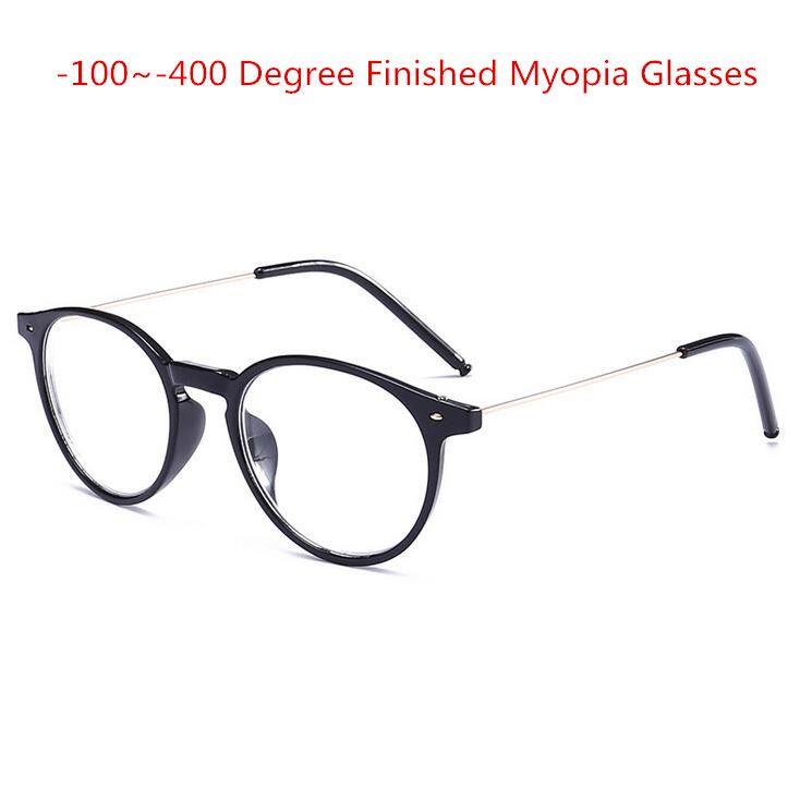 Fertigen Myopie Brille Frauen Ovalen Stahldraht Beine Rahmen Klare objektiv Kurzsichtig Brillen-1-1,5-2-2,5-3-3,5-4