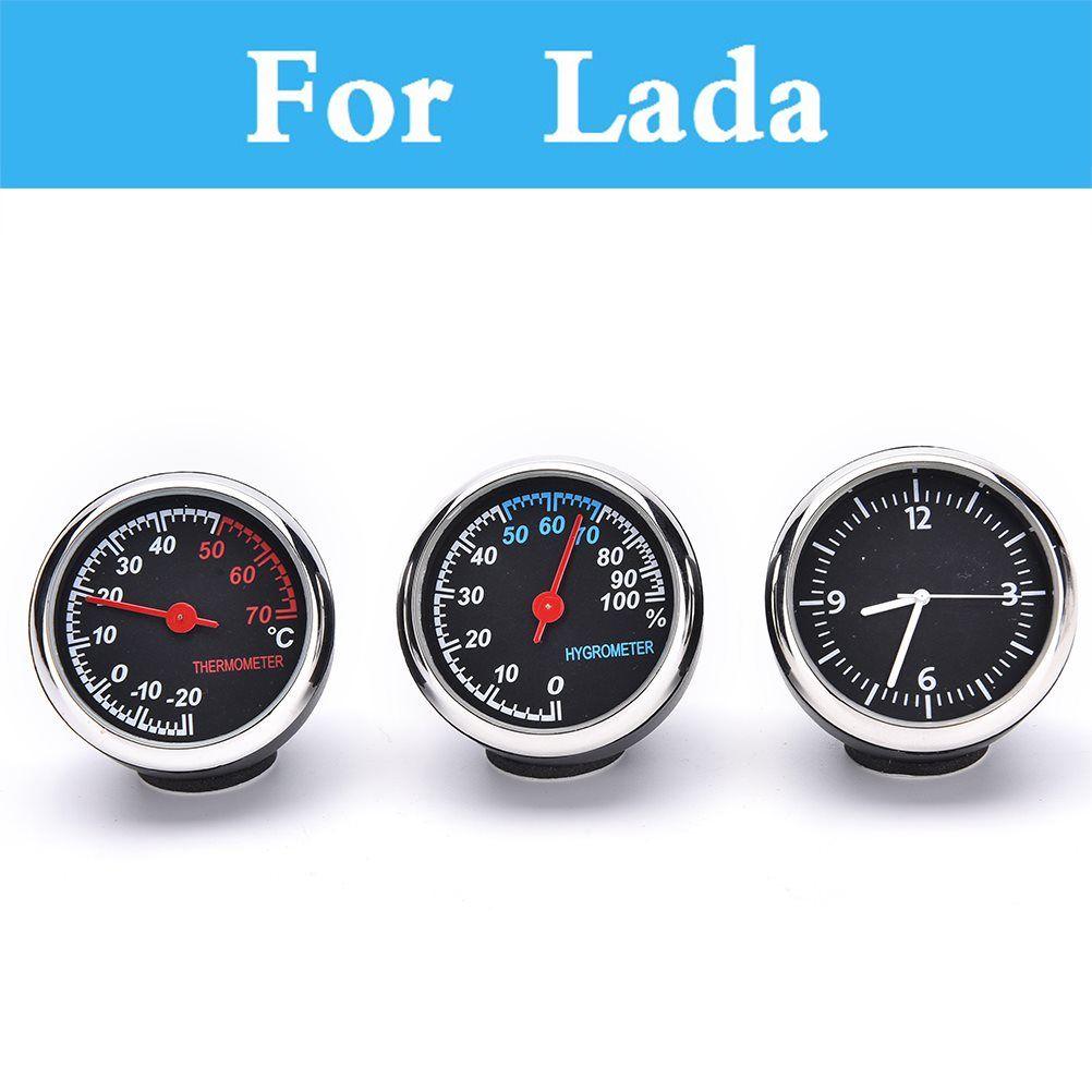 Серебристые часы цифровой указатель автомехаников термометр кварцевые часы для Lada Priora Sens Веста vida шанс Granta Калина