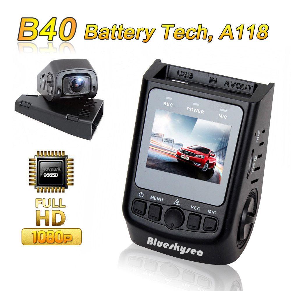 Blueskysea DVR B40 A118 Novatek 96650 full HD 1080P 6G Lens H.264 Mini Car Dash Camera 140 degree video recorder Dashcam