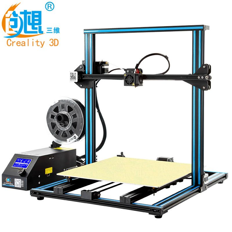 CREALITY 3D Printer CR-10 S4 with Dual Z Rod Kit Filament Monitor Detect Resume Power Off Prusa i3 Dual Z Rod 400x400x400mm