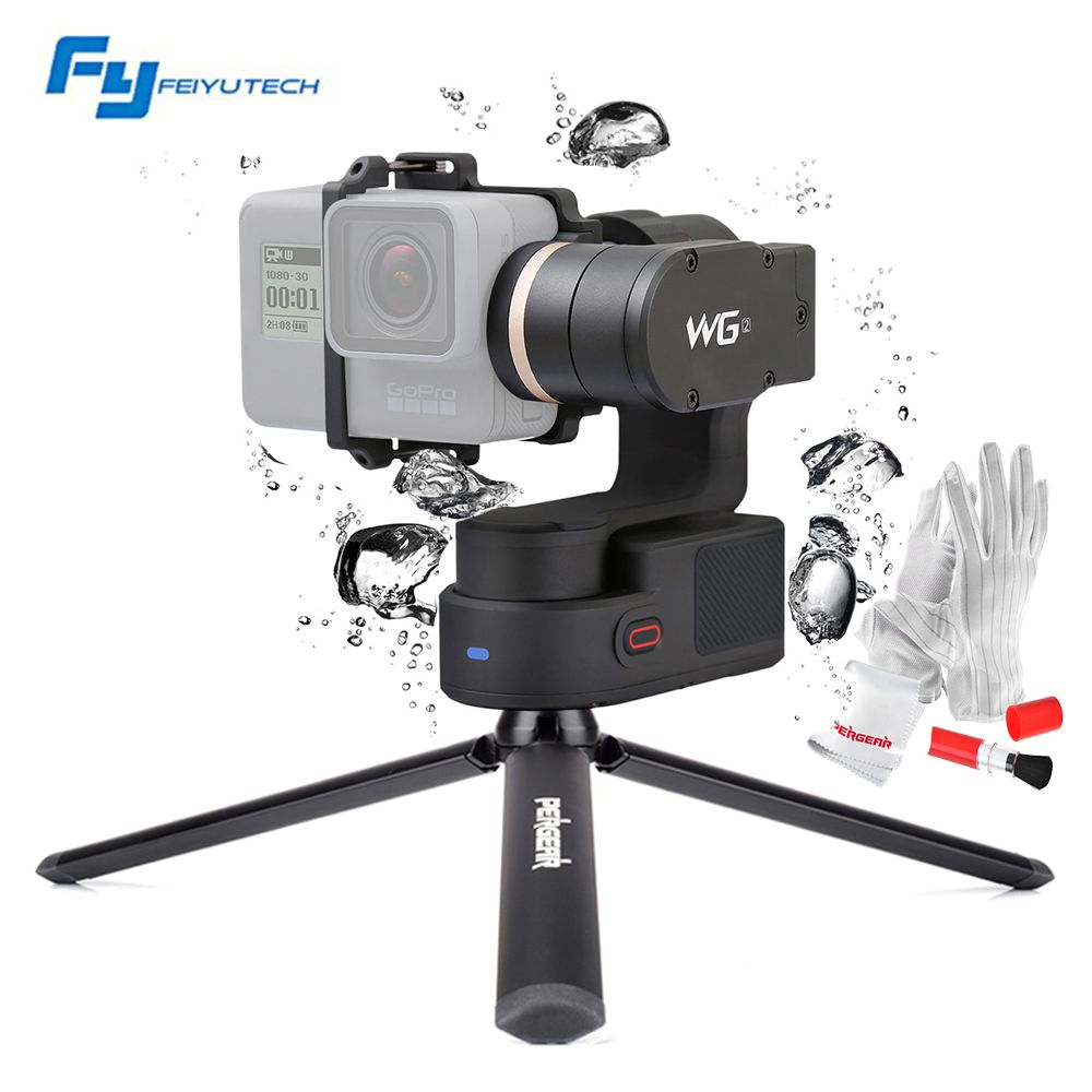FeiyuTech Feiyu WG2 FY-WG2 3-Axis Wearable Waterproof Gimbal for Gopro 4/5/Session and Similar Size Cameras with Mini Tripod Leg