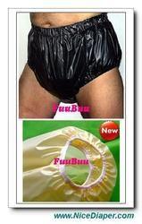 Free Shipping FUUBUU2217-BLACK-XL-1PCS adult diapers non disposable diaper plastic diaper pants pvc shorts ABDL