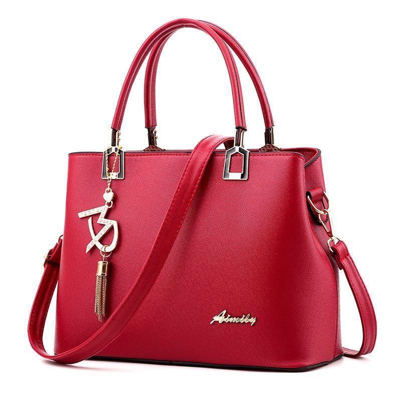 Women Bags Luxury Handbags Famous Designer Women Crossbody bags Casual Tote Designer High Quality 2018 NEW Interior Slot Pocket