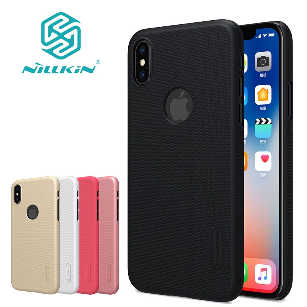 Pour iPhone XS Max XR X étui Nillkin givré mat PC dur en plastique téléphone couverture arrière étuis pour iPhone X 8 7 6 S 6 Plus 5 S SE Capa
