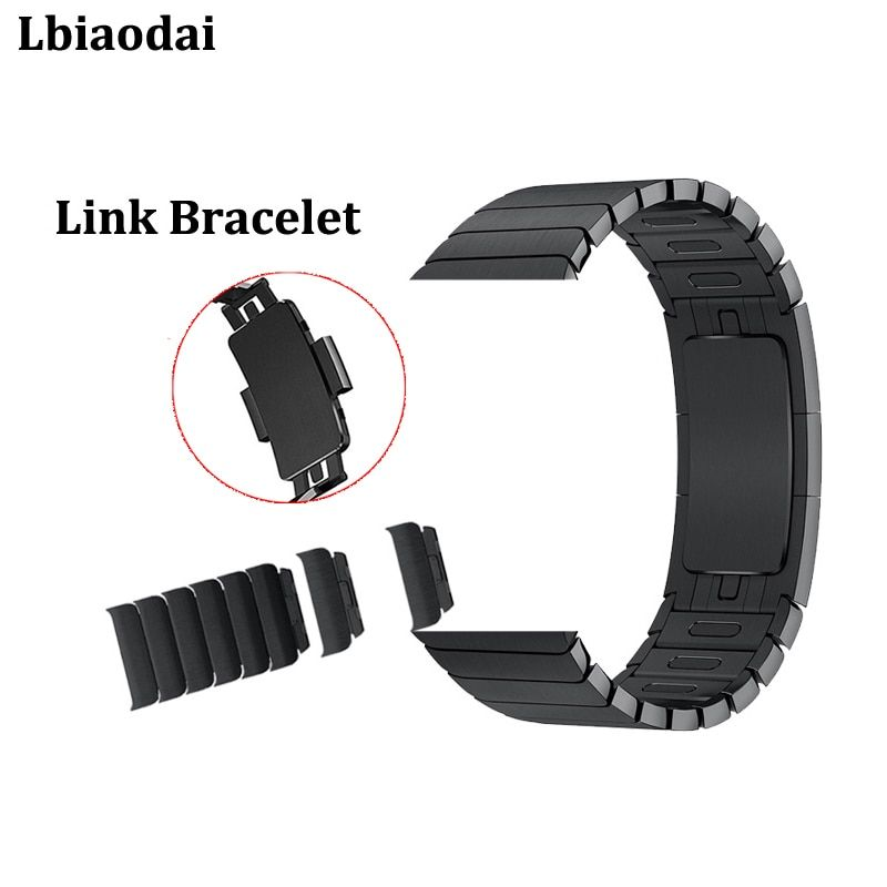 Stainless Steel watchband strap for Apple watch band 42mm 38mm 40mm 44mm Link Bracelet Correa for iwatch 4/3/2/1 metal buckle