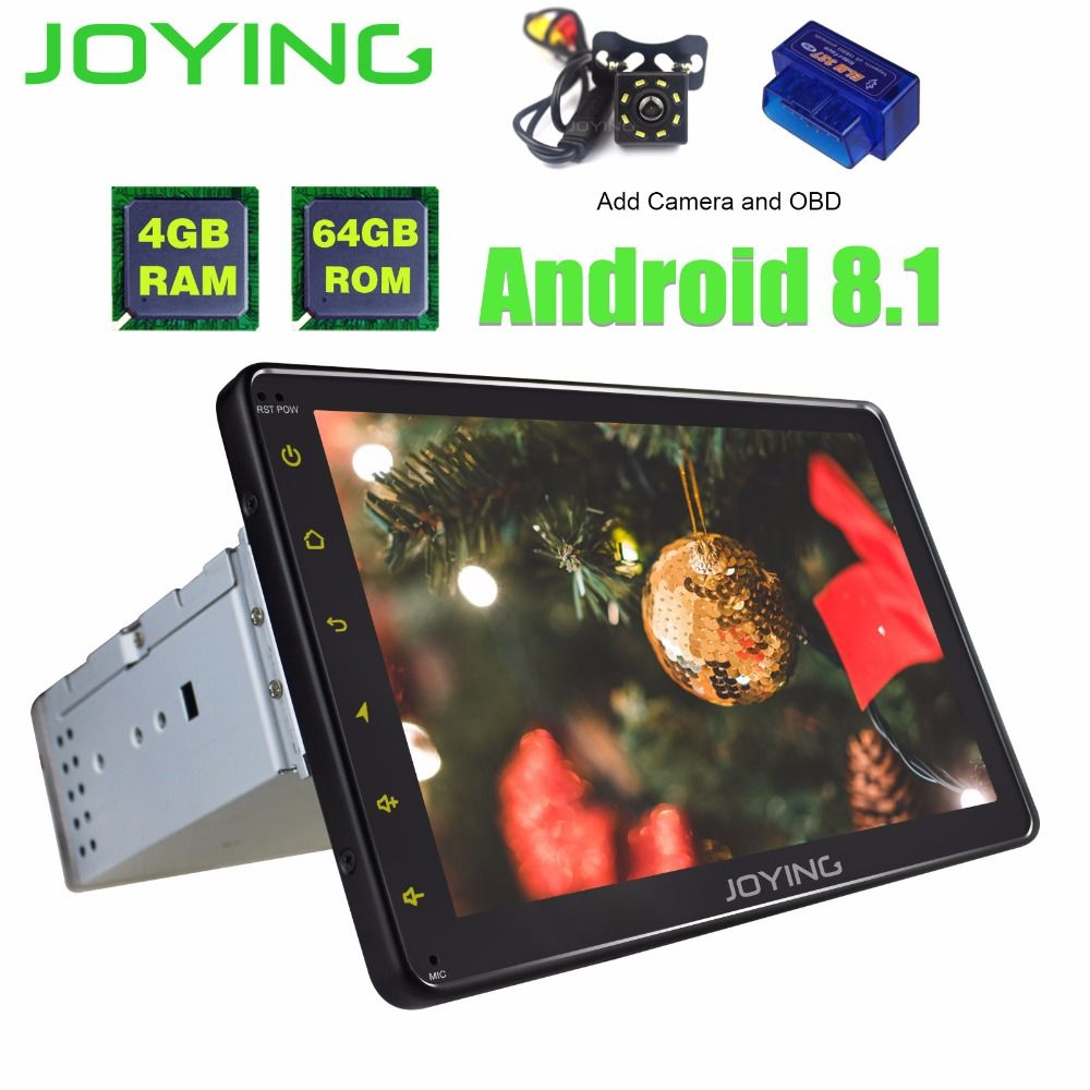 8 Single 1 Din Head Unit 4 GB + 64 GB Multimedia WIFI Player Universal Android 8.1 Auto Radio Stereo unterstützung Video Out Eingebaute DSP