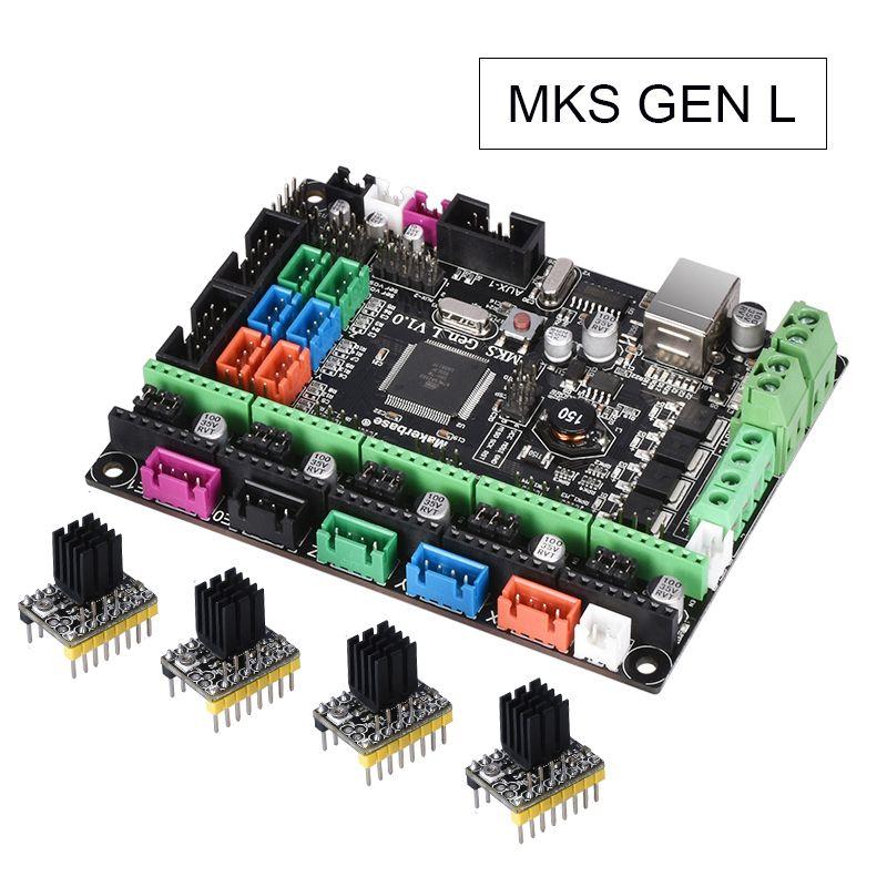 MKS Gen L V1.0 Integrated control PCB Board Reprap Ramps 1.4 support A4988/DRV8825/TMC2208/TMC2130 Driver For 3D Printer parts