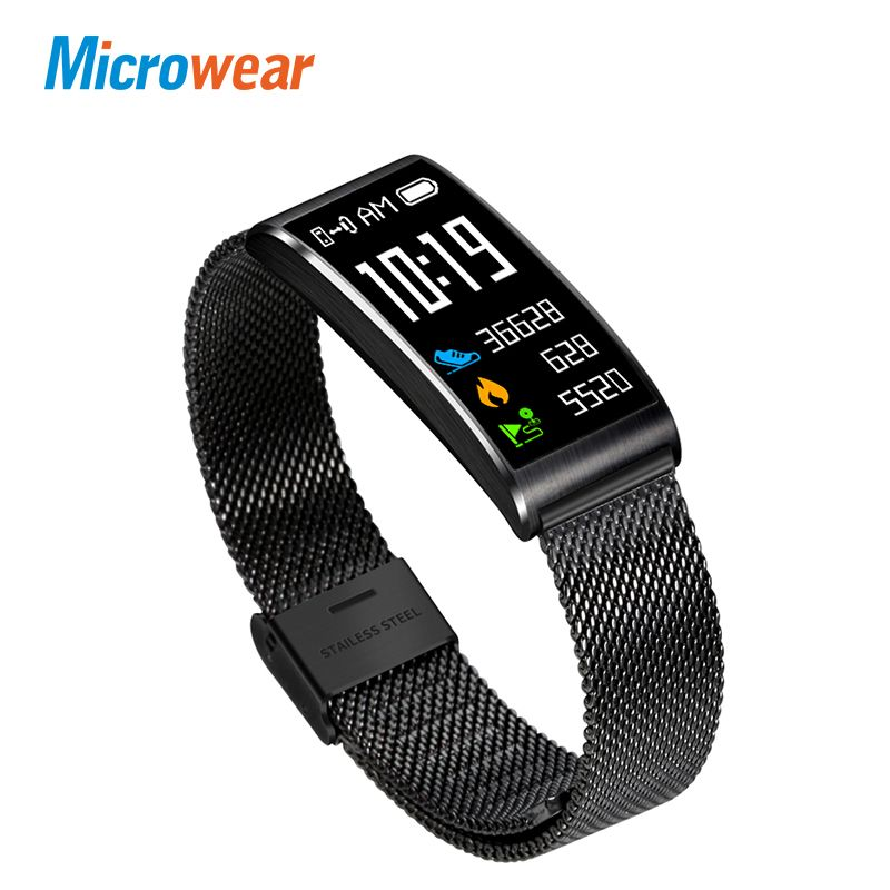 Microwear X3 IP68 Waterproof smart fitness bracelet pedometer <font><b>blood</b></font> pressure smart wristband Android iOS fitness tracker