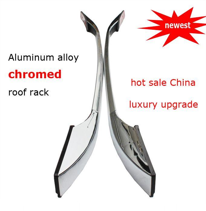 Para Sportage IX35 Qashqai Outlander ASX CX-5 CX-7 CX-9 portaequipajes cromado riel del techo barras de techo, nueva llegada, venta caliente en China