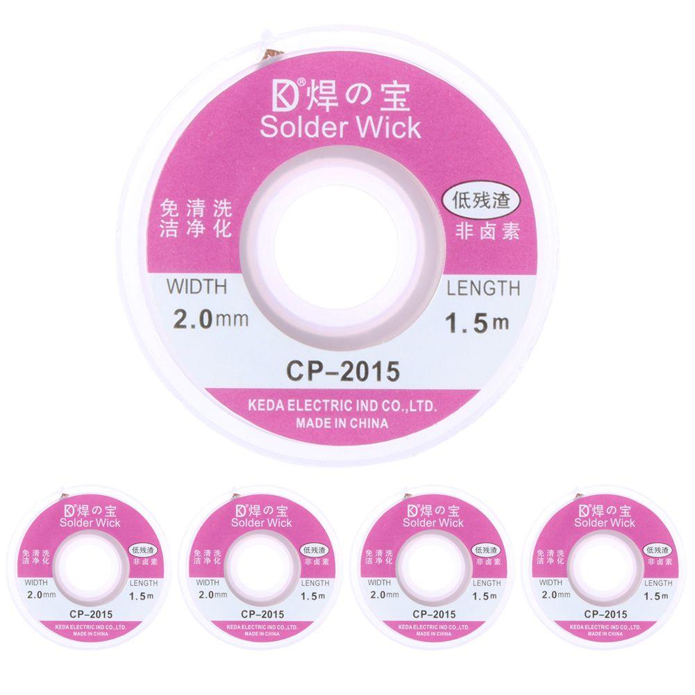 2pcs/5PCS/10pcs 1.5m/5ft 1m Width 2.0mm Solder Wick Remover Desoldering Braid Solder Remover Sucker Flux Wick Cable Wire