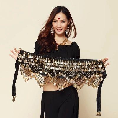 Nouveau Style pièces de danse du ventre chaîne de taille hanche écharpe bellydance ceinture, 9 couleurs pour votre choix.