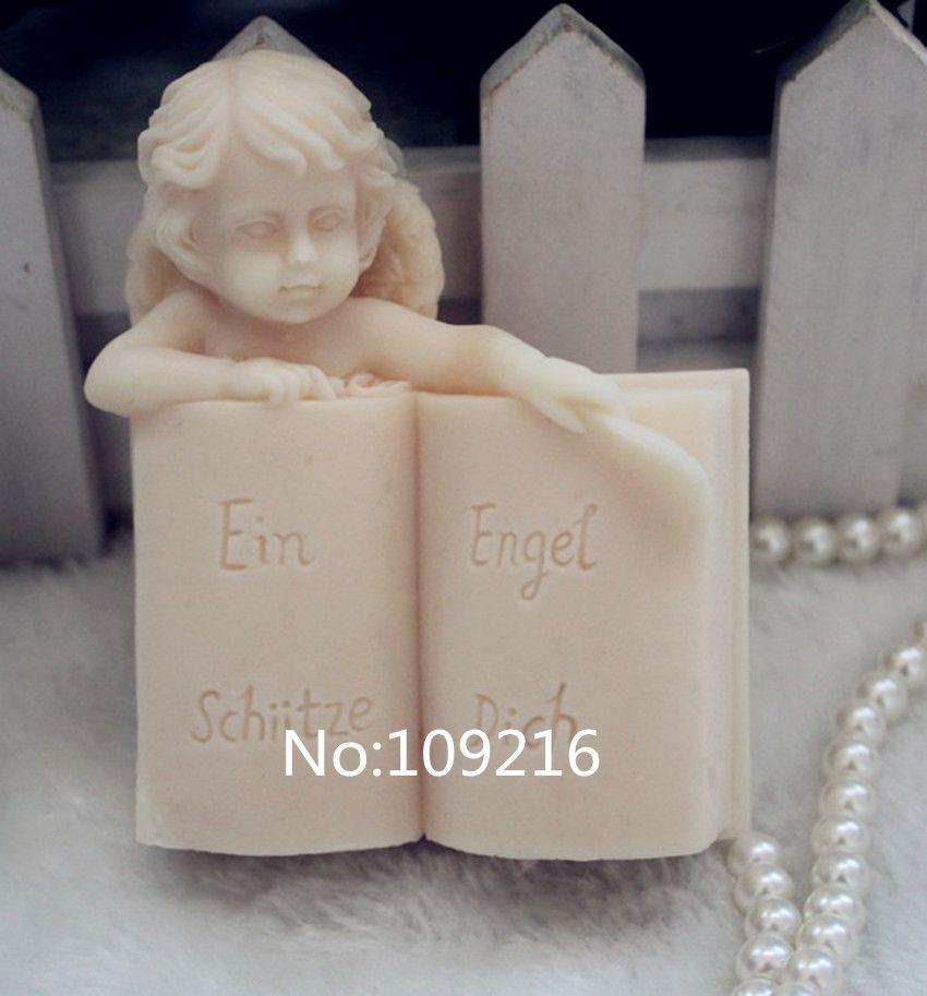 Оптовая продажа! 1 шт. ангел с книги (ZX104) ручной работы Мыло Mold ремесел DIY силиконовые формы