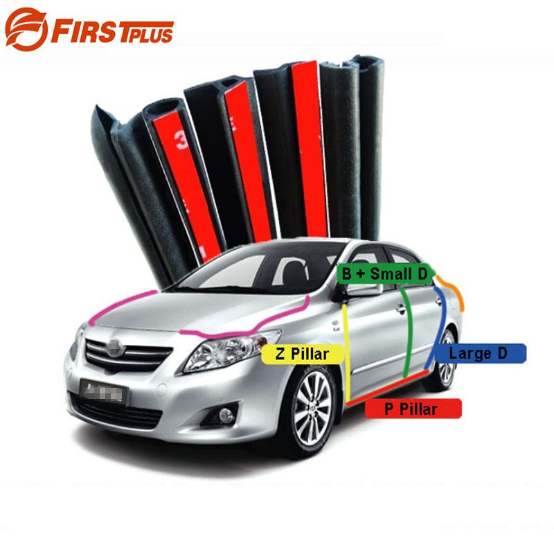 For Toyota Corolla Camry Rubber Seal Straps Front Rear Doors Bonnet Trunk Cover Anti Noise Dust Sealing Strips B D P Z Type