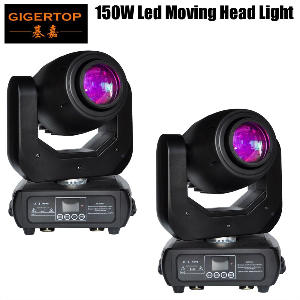 Freeshipping 2 paket 150 watt Led Moving Head Spot Licht LED-Display Drahtlose Empfänger Buchse 15 Grad Strahl 3 Facette prisma Zoom Fokus