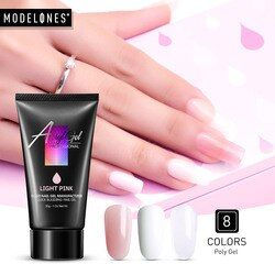 Modelones 30g Crystal Extend UV Nail Gel Extension Builder Led Gel Nail Art Gel Lacquer Acrylic Builder UV Nail Poly Led Gel