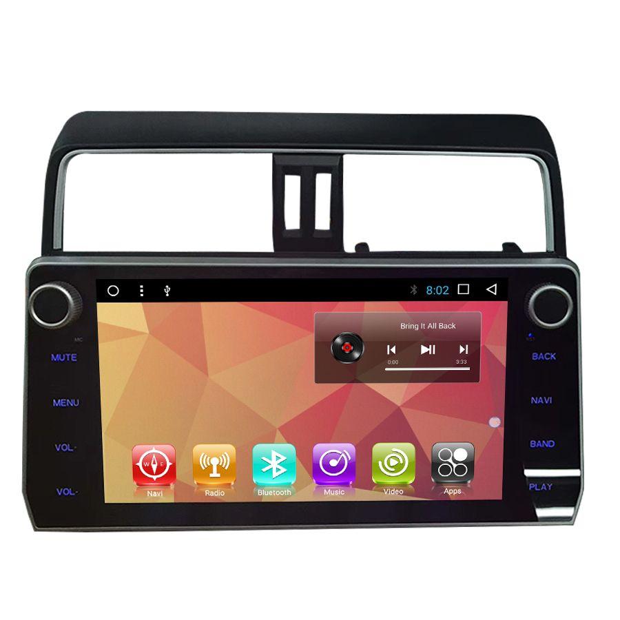 OTOJETA autoradio Android 7.1 2GB ram+32GB rom car dvd player for toyota prado LC150 2018 multimedia radio gps tape recorder