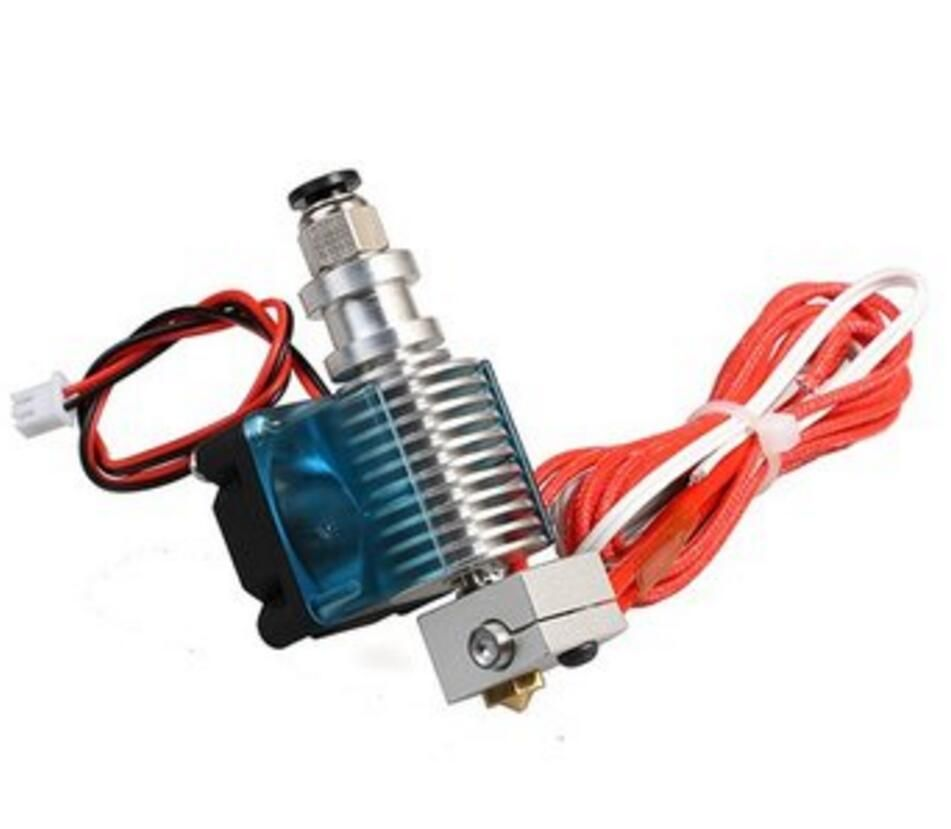 DuoWeiSi 3D Printer Parts 0.3mm Metal 3D Printer Extrusion Head Extruder Nozzle With Fan