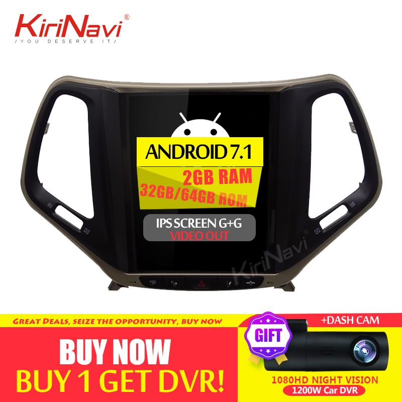 KiriNavi 10,4 Zoll Android 8.1 Auto DVD Für JEEP Cherokee Radio GPS Navigation Auto Dvd Multimedia Player 2015 2016 Bluetooth WIFI