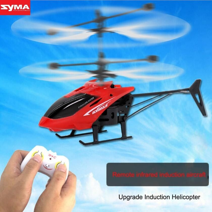 SYMA Quadcopter Flying Mini RC Infraed Induction Helicopter Aircraft Flashing Light Toys quadcopter with camera dec29