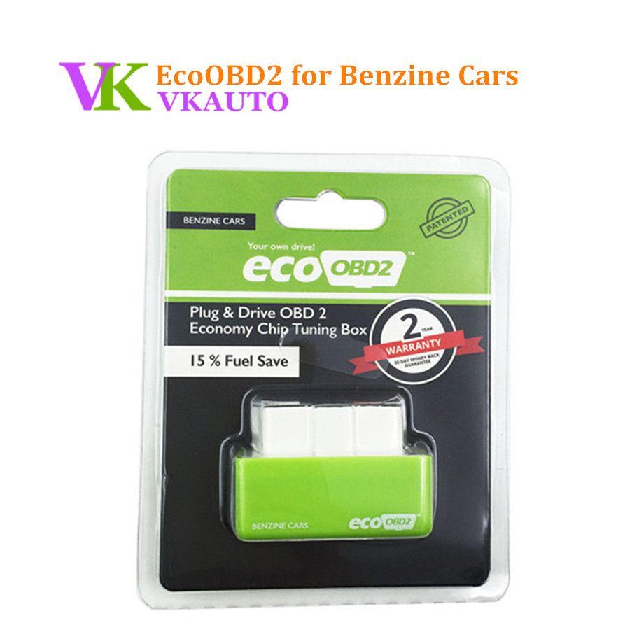Neue EcoOBD2 Benzine Benzin Autos Economy Chip Tuning Box Stecker und Stick Eco OBD2 Schnittstelle 15% Kraftstoff Sparen