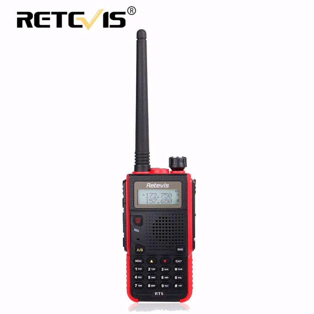 Retevis RT5 Walkie Talkie 5W 128CH VHF UHF Dual Band VOX FM Radio Scanner Amateur cb Radio Station Communicator Hf Transceiver