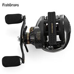 GT7.0 FISHDROPS LB200 17 + 1 BB Fishing Reel: 1 Umpan Casting Reel Kiri Tangan Kanan Fishing reel Satu cara Kopling Baitcasting Reel
