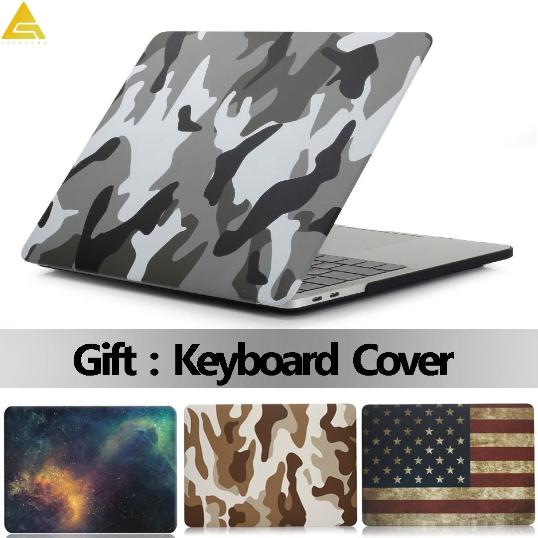 Coque pour ordinateur portable étui pour Macbook Air 13 Pro Retina 11 12 13.3 15 tablette tactile pour Macbook New Air 13 A1932 2018 + housse de clavier