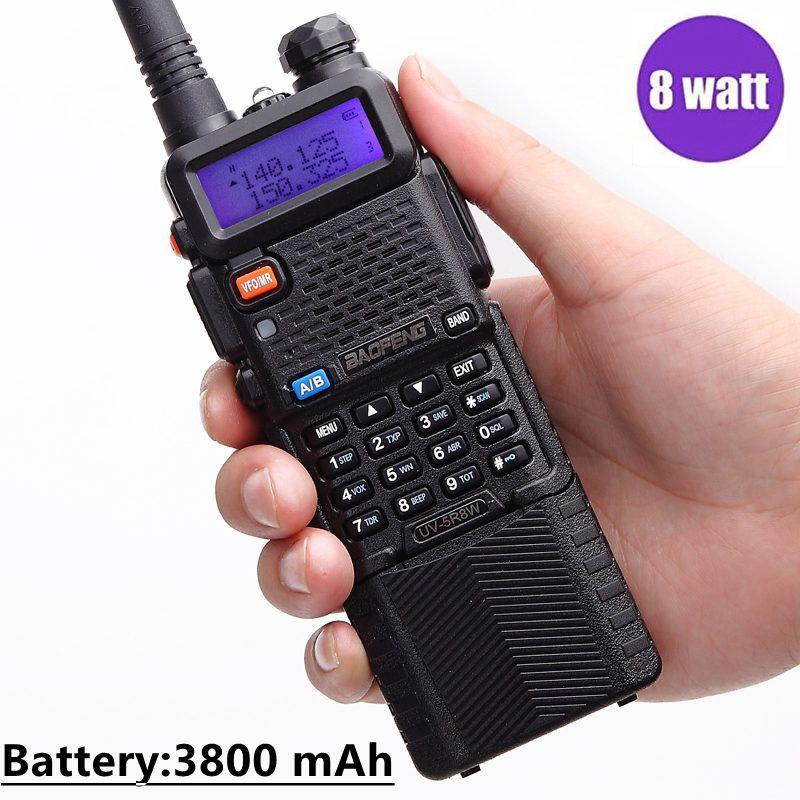 Baofeng UV-5R 8 w Puissant Talkie Walkie Portable Comunicador 3800 mah 10 km Longue Portée cb radio ensemble 8 watts UV5R pour forest city