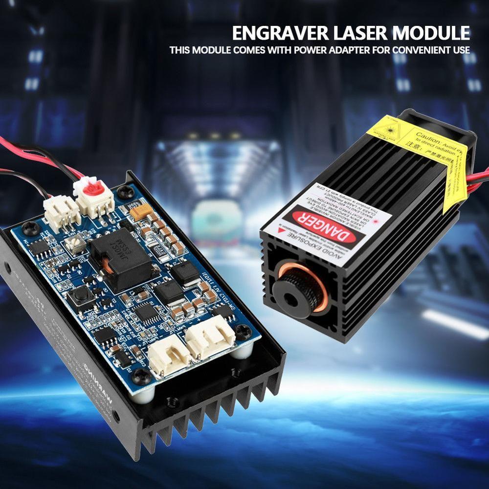 450nm 15WB Laser Kopf Gravur Modul TTL Leistungsstarke Blu-ray Holz Kennzeichnung Cut-Tool E Modul DIY Maschine Kühlkörper Fan Unterstützung EU/U