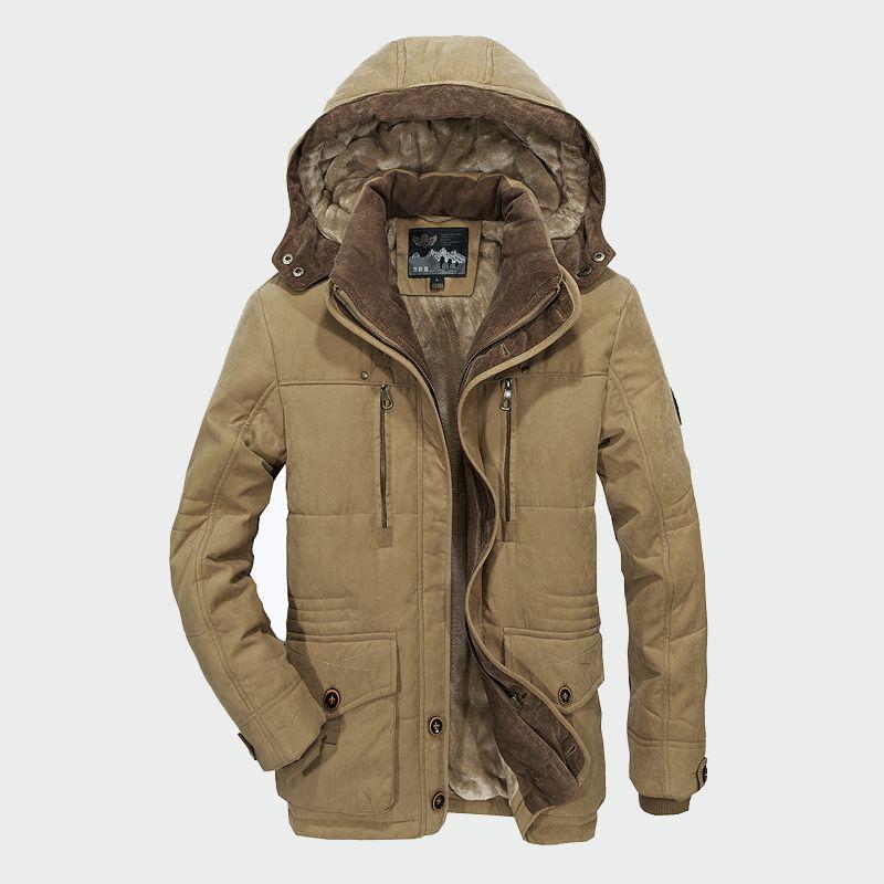 Men Winter Coats Fleece Warm Thick Jackets Men Outerwear Windproof Casual Coat With Hooded Mens Parkas Plus size 5XL 6XL ML030