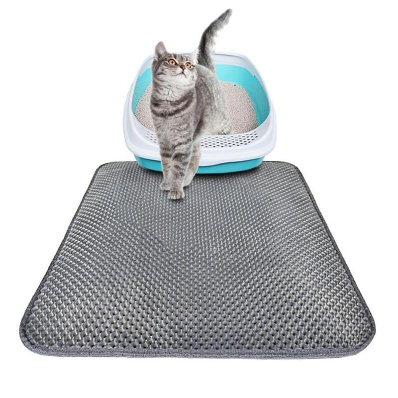 Tapis pliant de trappeur de litière pour chat tapis de tamisage en nid d'abeille imperméable à l'eau tapis de sol écologique en mousse EVA