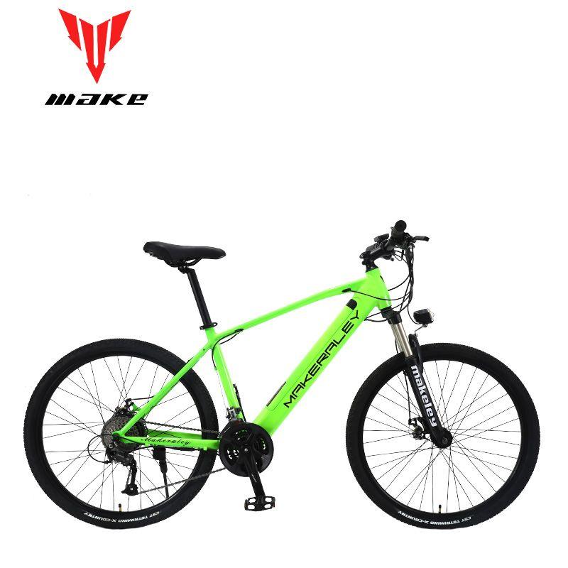 Machen elektrische fahrrad 350 W aluminium rahmen 27,5 zoll räder 27 geschwindigkeit SHIMAN0 ALТUS