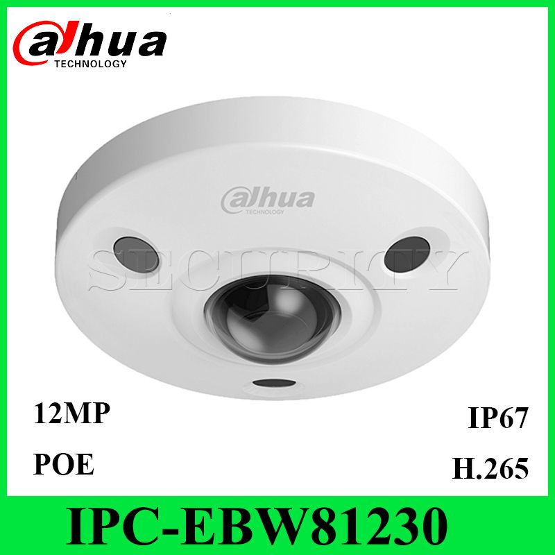 Dahua IPC-EBW81230 12MP Panorama Netzwerk IR Fisheye IP Kamera IP67 IK10 PoE Audio und Alarm mit Express Schiff ohne logo