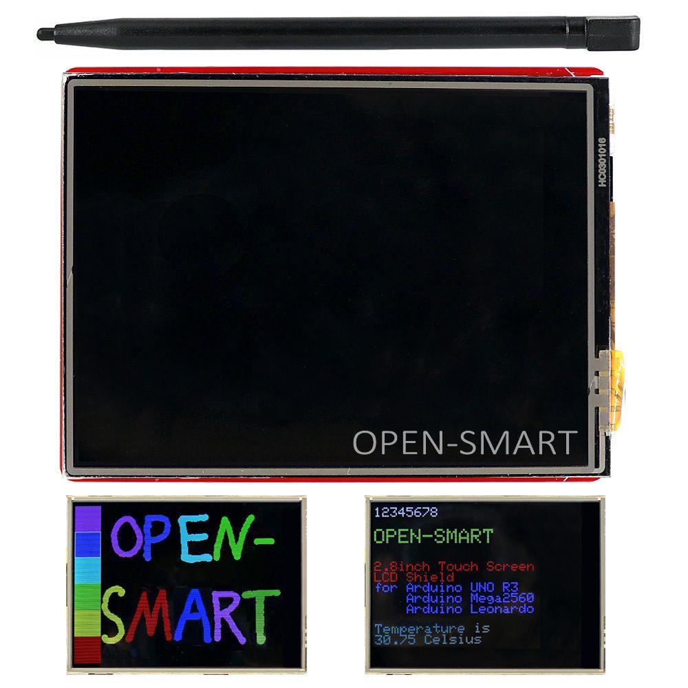 2.8 pouce TFT RM68090 Écran Tactile LCD Affichage Bouclier à Bord capteur de Température + Tactile Stylo pour Arduino UNO R3/Mega2560/Leonardo