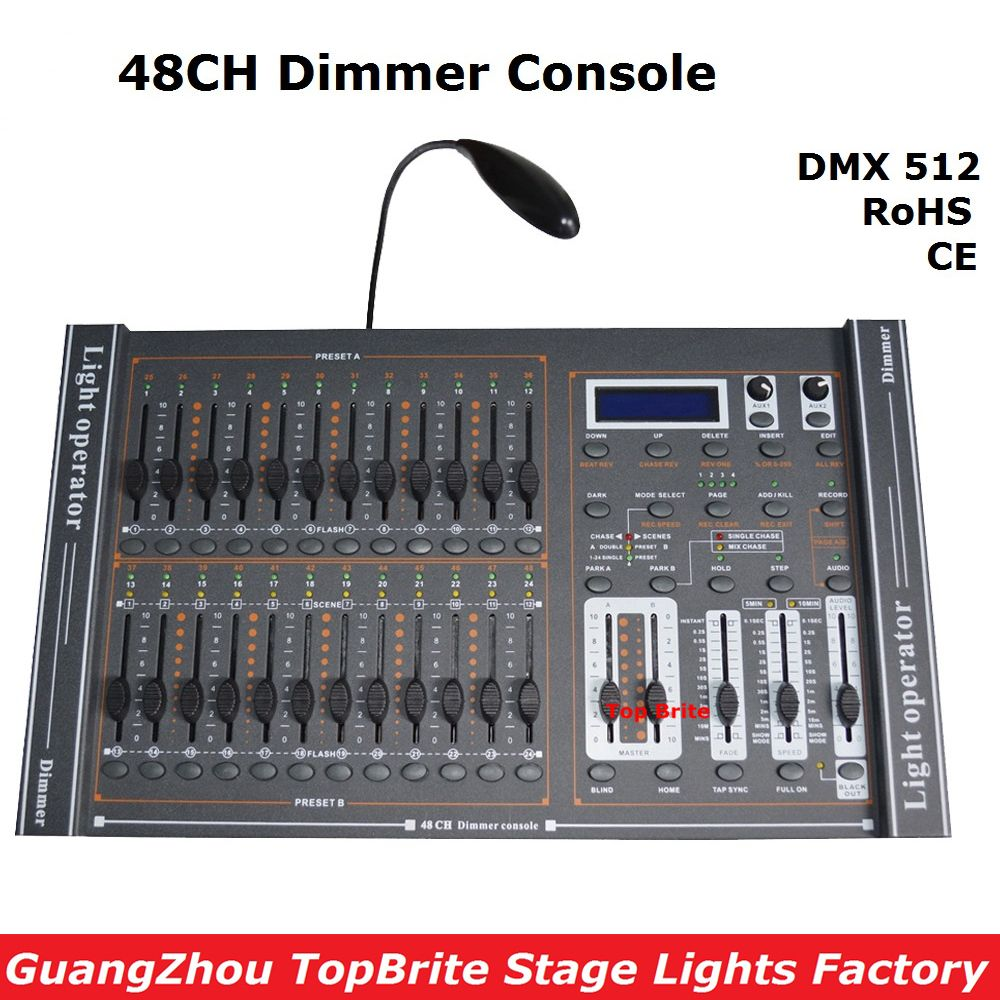 2017 New Arrival 48CH Dimmer Console 48 Channels DMX512 Controller Professional Stage DJ Disco Lighting Equipments Free Shipping