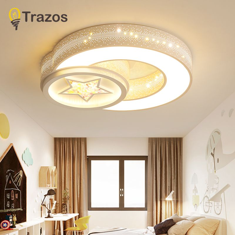 TRAZOS Black White Modern led Ceiling light Remote Ceiling lamp Square surface mounted abajour luminaria luster for bedroom