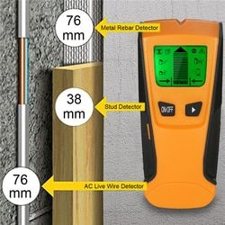 Meterk 3 In1 pinpointer Metal Detectors Stud Center Finder search Metal and AC live Wire Detector Wall Scanner gold Finder