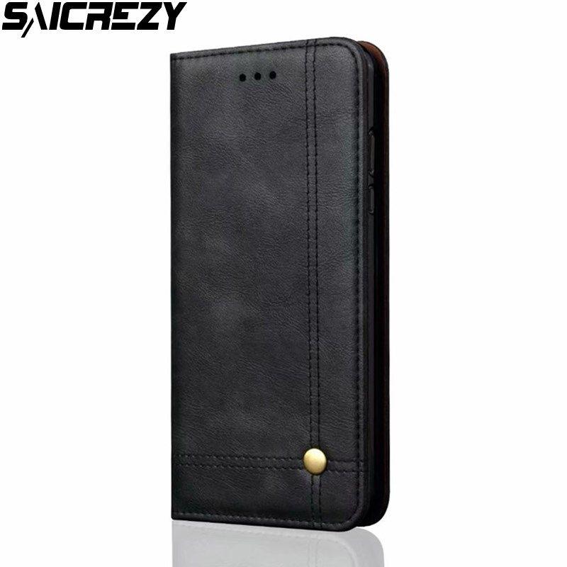 Flip Case Cover For Xiaomi Mi A2 Lite 6X A1 8 SE Mi8 Retro Leather Wallet Flip Shell For Redmi 4X 5 Plus Note 5 Pro S2 Conque