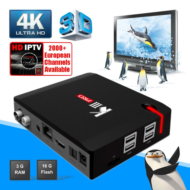 MECOOL KIII Pro 3g 16g DVB T2 S2 C Hybrid Smart TV Box Android 7.1 Amlogic S912 4 karat HD Set-top Box Dual Wifi Satelliten-receiver