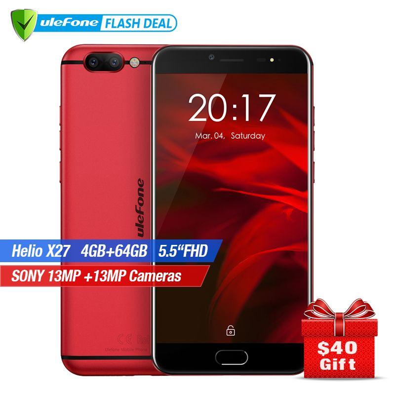 Ulefone Gemini Pro Dual Camera Smartphone 5.5 inch FHD MTK6797 Deca Core Android 7.1 4GB+64GB Fingerprint ID 4G mobile phone