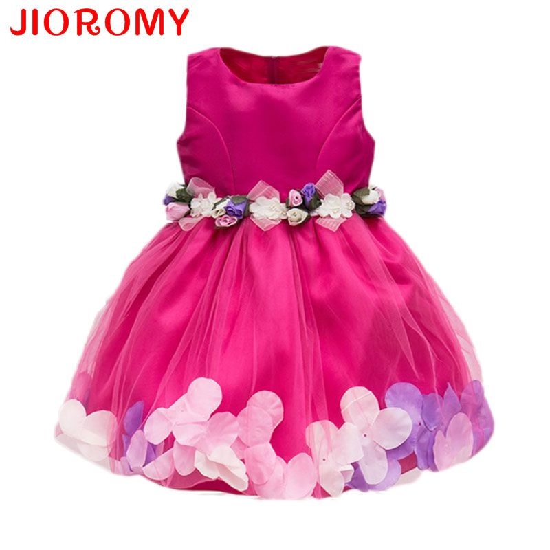 Nouveau Mode Sequin Fleur de Partie de Robe D'anniversaire De Mariage Princesse Enfant Bébé Filles Vêtements Enfants Enfants Lycra Robes k1