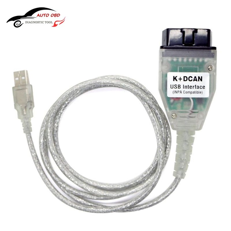 OBD OBD 2 USB Cables For bmw Inpa Ediabas K+DCAN USB Interface Diagnostic Tool For BMW E46 INPA K+CAN K CAN INPA FT232RL Chip