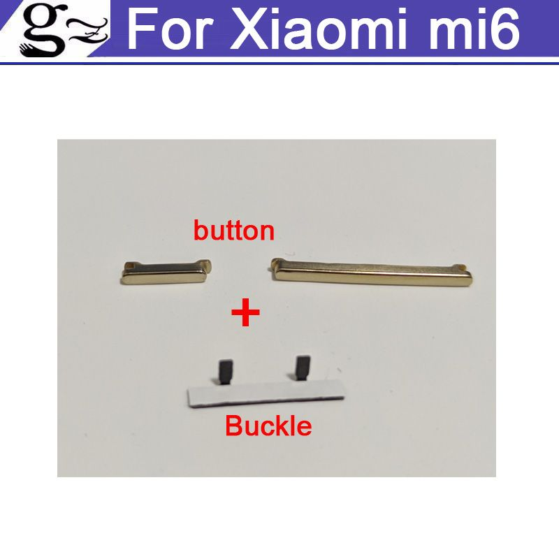 Switch on off Power Volume button For Xiaomi mi6 Mi 6 Mobile Phone Keypads Power on off with Buckle
