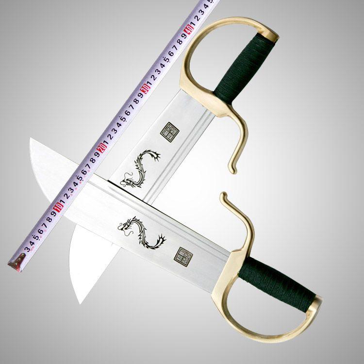 Kundenspezifische Echtes schwert König/acht cutter/Flügel Chun messer/Flügel Chun martial messer griff unbesäumte/kupfer armaturen