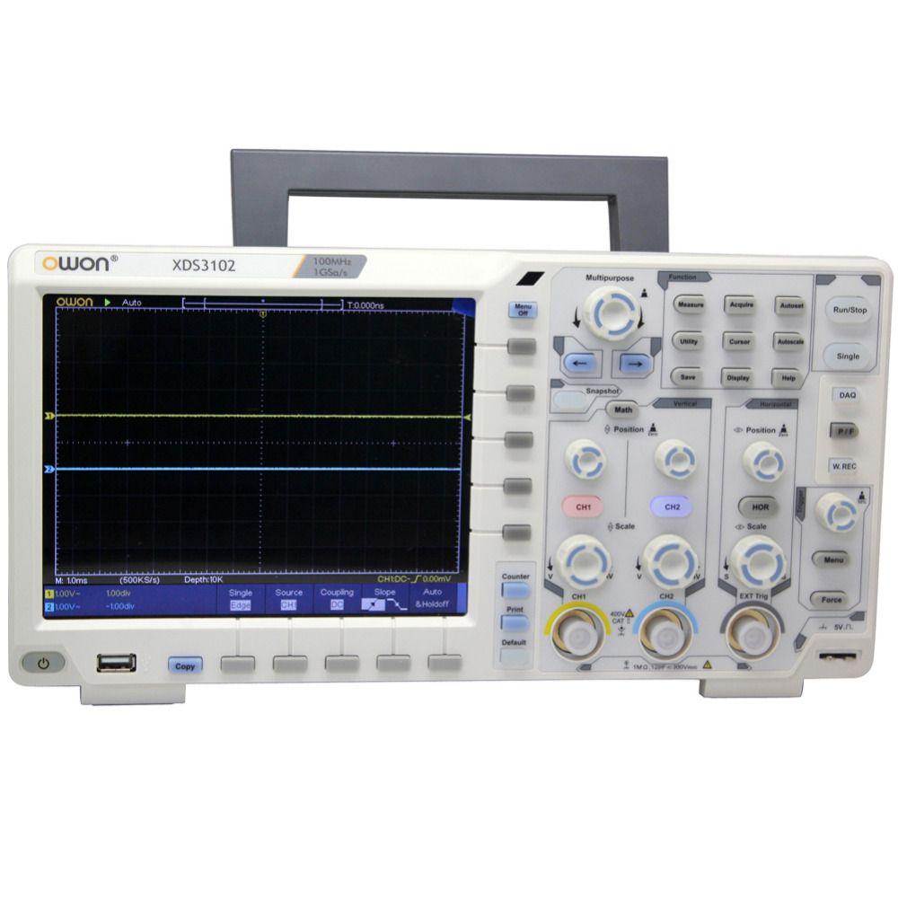 OWON XDS3102 100Mhz 1G Oscilloscope datalogger rmultimeter waveform generator Optional